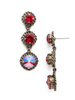 Red Ruby Crystal Earrings~ECN40ASRRU