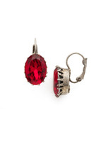 Red Ruby Crystal Earrings~EDH23ASRRU