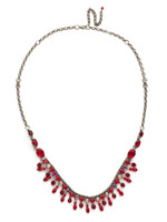 Red Ruby Crystal Necklace~NCM3ASRRU