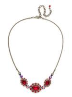 Red Ruby Crystal Necklace~ NCK11ASRRU