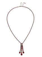 Red Ruby Crystal Necklace~ NDH25ASRRU