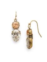Sorrelli Washed Waterfront Crystal Earrings~ EDH62AGWW