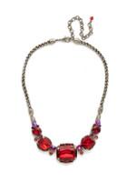Red Ruby Crystal Necklace~ NCK4ASRRU