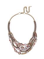 Sorrelli PINK PEONY Crystal Necklace~NCK50AGPP