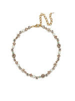 **SPECIAL ORDER**SORRELLI WHITE MAGNOLIA CRYSTAL NECKLACE~NBE2AGWMA