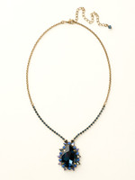**SPECIAL ORDER**DRESS BLUES CRYSTAL NECKLACE BY SORRELLI~NCR13AGDBL