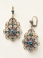 **SPECIAL ORDER**DRESS BLUES CRYSTAL EARRINGS BY SORRELLI~ECP23AGDBL