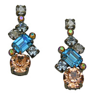 SORRELLI SKY BLUE PEACH EARRINGS - ECF6ASSKY