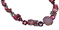 SORRELLI SWEET HEART CRYSTAL NECKLACE~ NCD2ASSWH