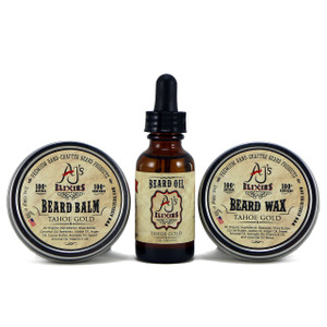 Beard care kit includes your choice of scent and contains a Beard Oil, Beard Balm, and Beard Wax to provide the best beard conditioning and styling.
