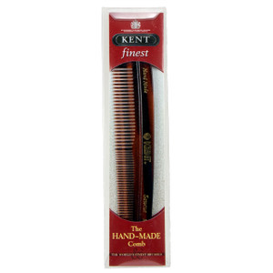 Kent R7T Men's Finest hand-made pocket comb for coarse and fine hair, brought to you by AJ's Elixirs.