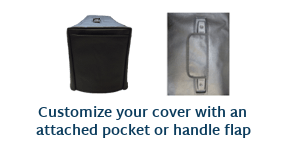 Add a pocket or handle flap to you cover