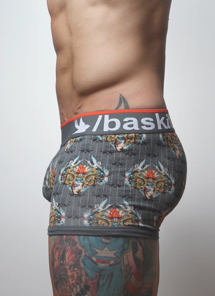 Shorter than a Boxer Brief and longer than a traditional Brief, The Low-Rise Trunk provides a perfect middleground in coverage.