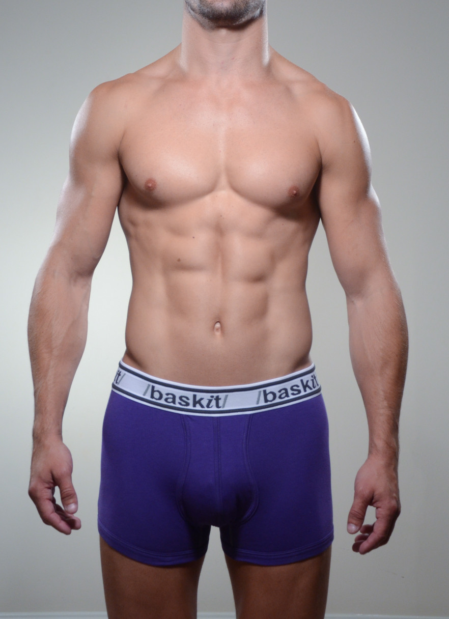 Baskit Light Trunk in royal purple color front.