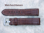 Panerai OEM Antique Brown Alligator 22/20 mm XL length 115/95 mm Retail $390 Now $350 USD