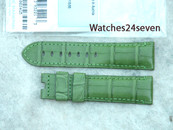 Panerai OEM Green Alligator strap 22/20 mm short length 115/68 mm for deployant buckle Retail $390 Now $350