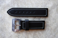 Dirk Strap Black Seawater Proof w Logo Buckle