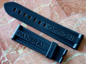 Panerai OEM Rubber Dive Strap in standard  length $175