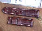 Panerai OEM Brown Alligator Straps standard and  XL length Retail $390 Now $350 USD