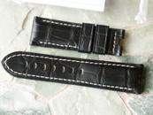 Panerai OEM Black Alligator White Stitching RARE! Retail $390 Now $350 USD