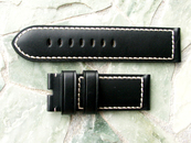 Panerai OEM Black Calf White Stitch Strap 26/26 mm