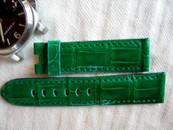 Panerai OEM Green Brilliant Alligator 22/20 standard length 115/75 mm