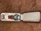 Double Watch Travel Case Brown Leather $75 USD