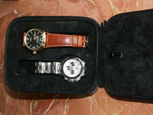 Four Watch Travel Case in Black Leather $99 USD