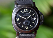 Panerai PAM 28 A Power Reserve Silver Arrow Hobnail Dial PVD T Dial 44 mm