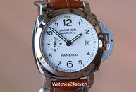 Panerai PAM 523 Luminor Marina  3 Days 1950 White Dial 42mm