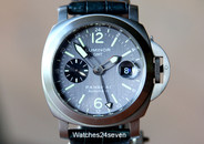 Panerai PAM 89 GMT Luminor Anthrecite Dial Titanium 44 mm