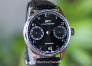 IWC Portuguese 7 Day Automatic Black Dial IW5007-03