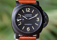 Panerai PAM 04 Pre A Luminor Marina T-Swiss-T dial, PVD 44mm, $16,500 USD