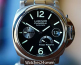 Panerai PAM 126 Luminor Marina Automatic Power Reserve on Bracelet 40mm