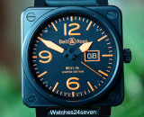 Bell & Ross BR01-96 Aviation Grand Date Black/Orange LTD 46mm