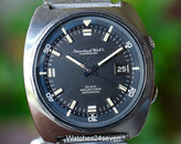 IWC Aquatimer Automatic T Dial on Bracelet Vintage Circa 1970's Ref. 816AD