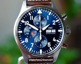 IWC Chronograph Calendar Petite Prince LTD Blue Dial, 43mm, IW377714, ON HOLD