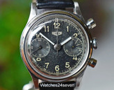 Heuer Chronograph Double Register, Tropical Dial, Ref. 49122 Circa 1950's