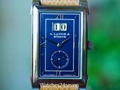 A. Lange & Söhne Glashutte Cabaret Blue Dial White Gold, 107.027