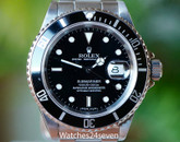 Rolex Submariner Stainless Steel 40mm Ref 16610 Series A Circa 1999