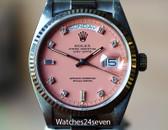 Rolex President Day Date White Gold, Pink Diamond Stella Dial, Ref. 18039