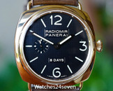 Panerai PAM 197 Radiomir Rose Gold 8 day JLC movement Hobnail Dial 45mm