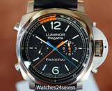 Panerai PAM 526 Luminor 1950 3 Day Flyback Regatta Blue & Orange,  47mm