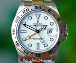 Rolex Explore II White Dial Stainless Steel 42 mm, Model 216570