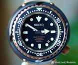 Seiko Prospex Master Marine 1000 Black Ceramic Case Pink Gold Bezel
