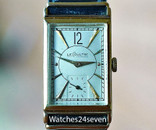 Le Coultre Vintage Art Deco Tonneau Ultra Thin 14 karat Gold Watch