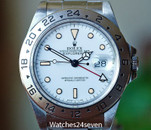 Rolex Explorer II White Dial Cream Markers Steel 40mm, Ref. 16570