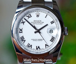 Rolex Datejust 36 Stainless Steel White Roman Dial 36mm, Ref. 116200