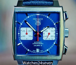TAG Heuer Monaco Calibre 12 Chronograph Blue Sunburst Dail 39mm