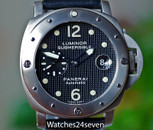 Panerai PAM 25A Luminor Submersible Automatic Titanium Hobnail Dial 44mm